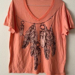 NEW WILDFOX CRYSTALS & FEATHERS T-SHIRT SZ XS